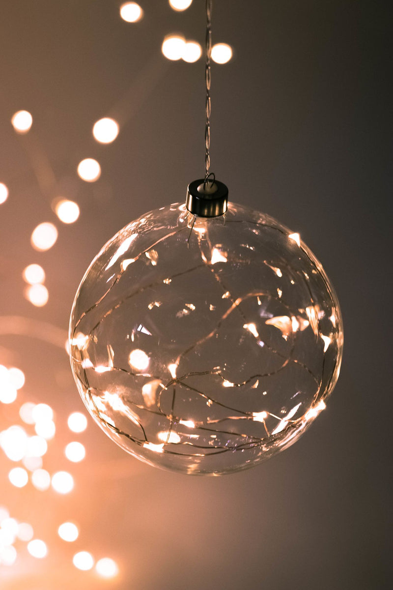 Hanging 10cm Clear Sphere Seedlight
