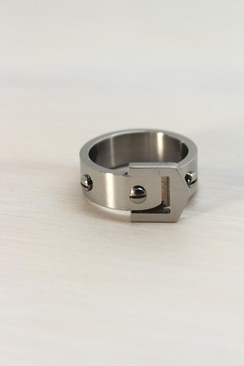 Silver Stainless Steel Belt Ring - Simply Special Invercargill