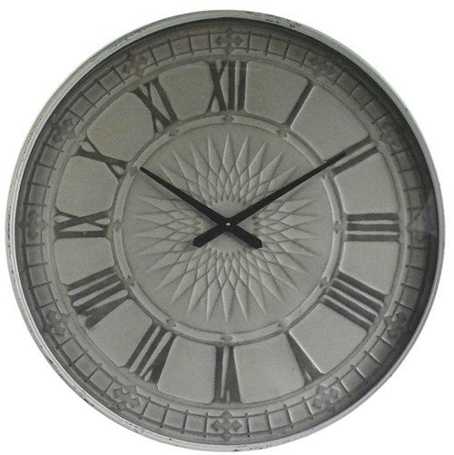Old Town Metal Roman Numeral Wall Clock - Simply Special Invercargill