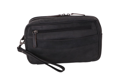 Hunter Blk Leather Wrist Pouch - Simply Special Invercargill