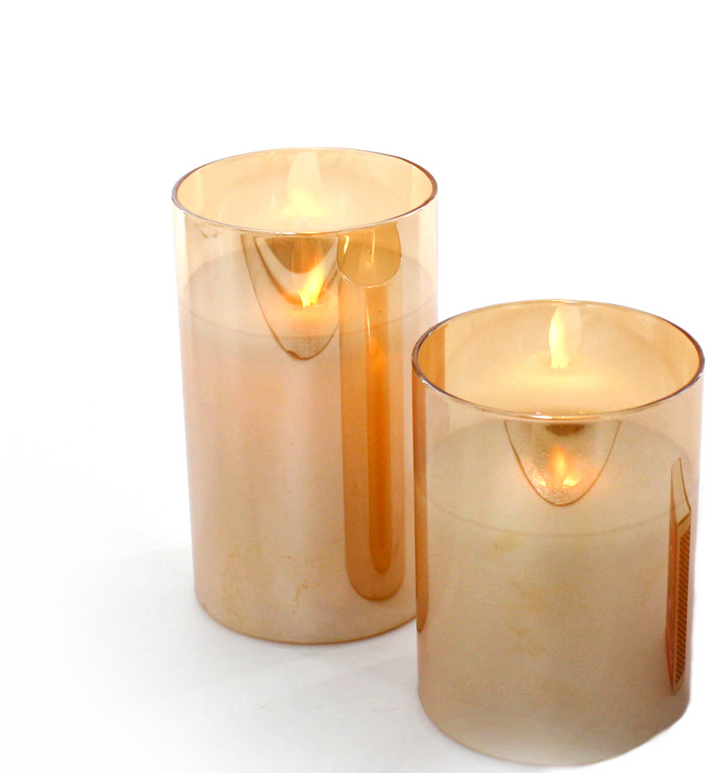 Moving Wick Candle SMALL -Amber