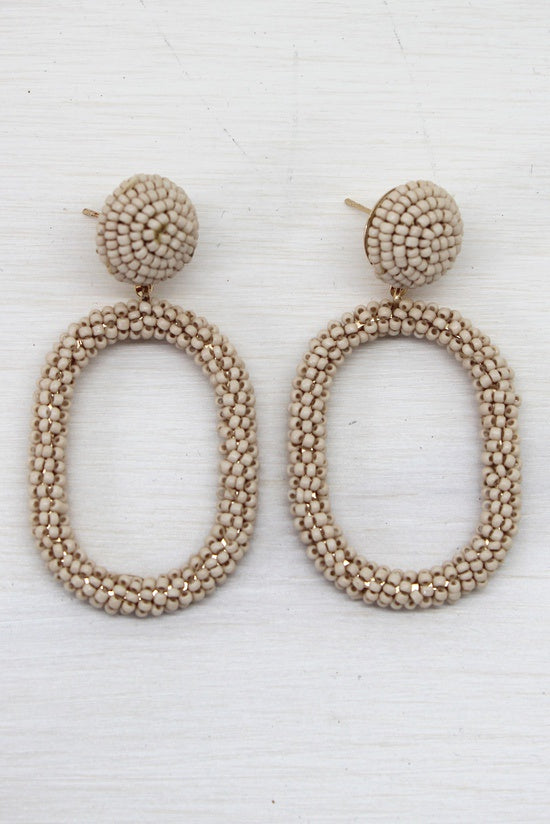 Almond Loop Earrings - Simply Special Invercargill
