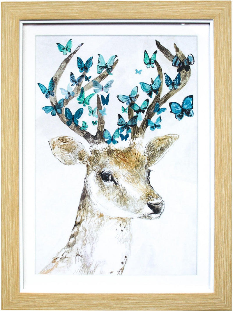 Framed Print Butterfly Deer - Simply Special Invercargill