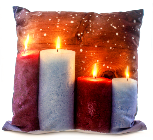 LED Cushion-  Snow Fall Candlelight
