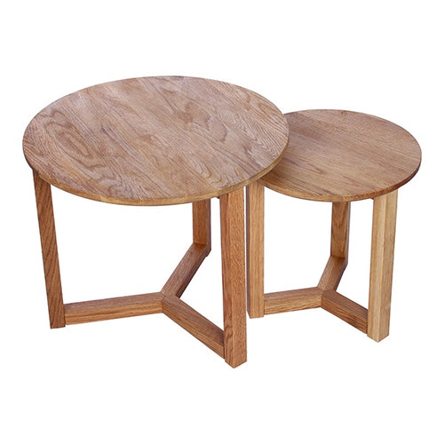 Oslo Set 2 Oak Side Tables - Simply Special Invercargill