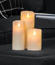 Oneworld Flameless Candle set of 3 (13x9cm) Sml - Simply Special Invercargill