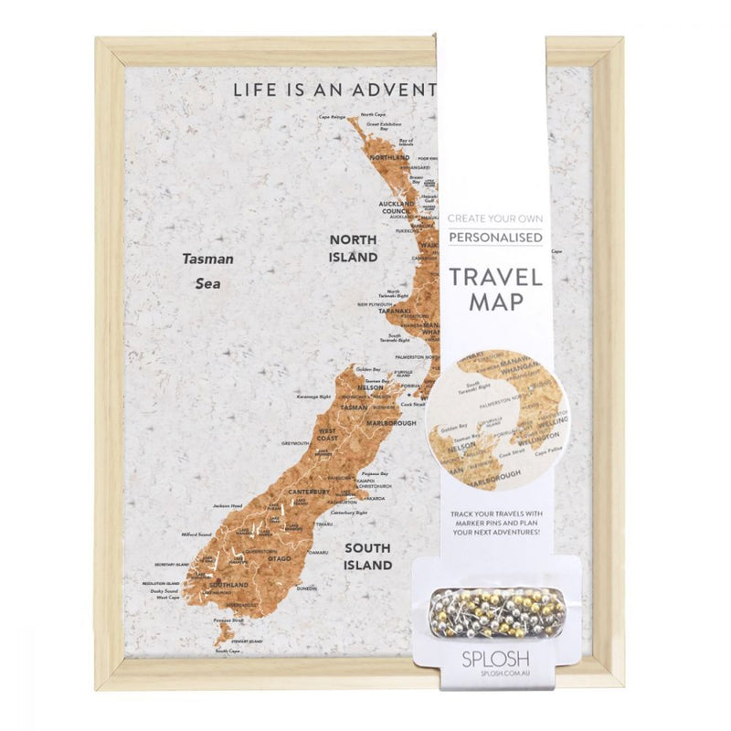 New Zealand Travel Board w/Pins