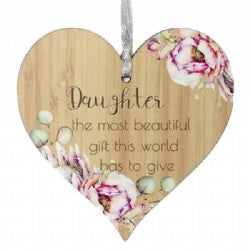 Hanging Heart Plaque - Simply Special Invercargill