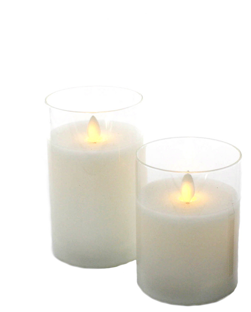 Moving Wick Candle MEDIUM -Clear
