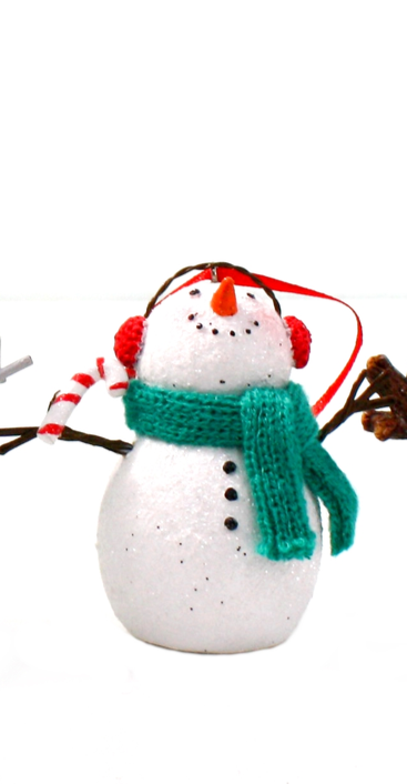 Tree Hanger Snowman with Earmuffs