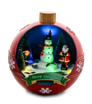 LED Animated Christmas Scene - Red Bauble