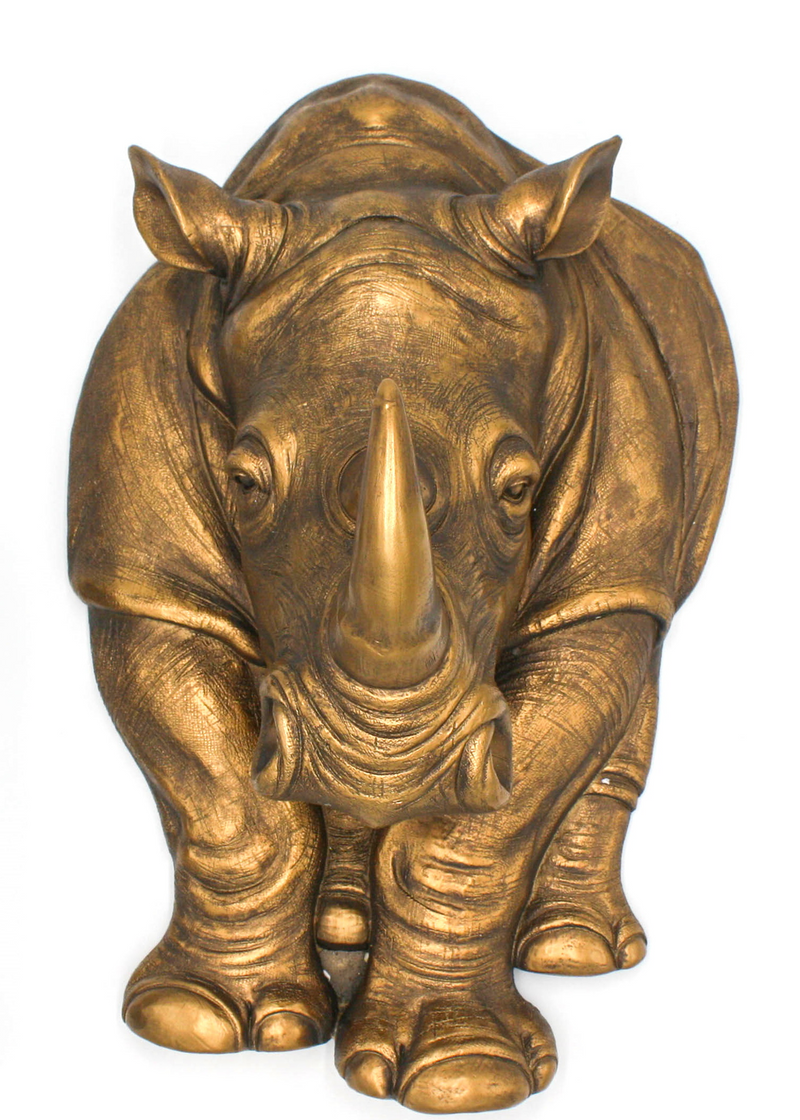 Wall Plaque Rhino - Simply Special Invercargill