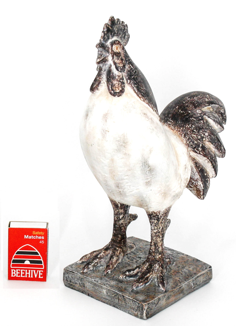 Two Tone Rooster Figurine - Simply Special Invercargill