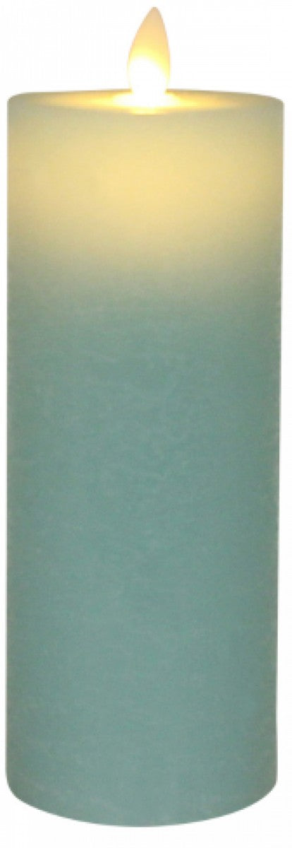 Blue Flameless Candle Tall - Simply Special Invercargill