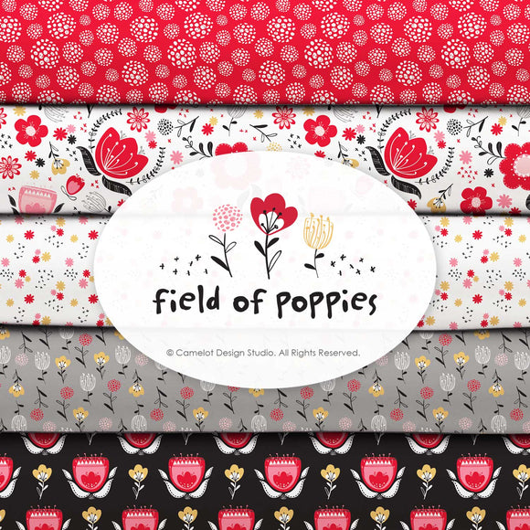 Field Of Poppies by Camelot Design Studio