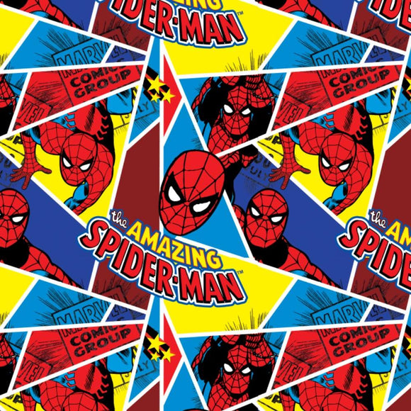 Amazing Spiderman - Printed Flannel by Marvel Comics<br>13020003WM-01 Multi