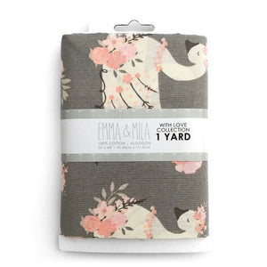 EMMA & MILA - With Love - FLORAL SWAN GREY 1 Yard Cuts<br>21171301YC1WM-01-Grey