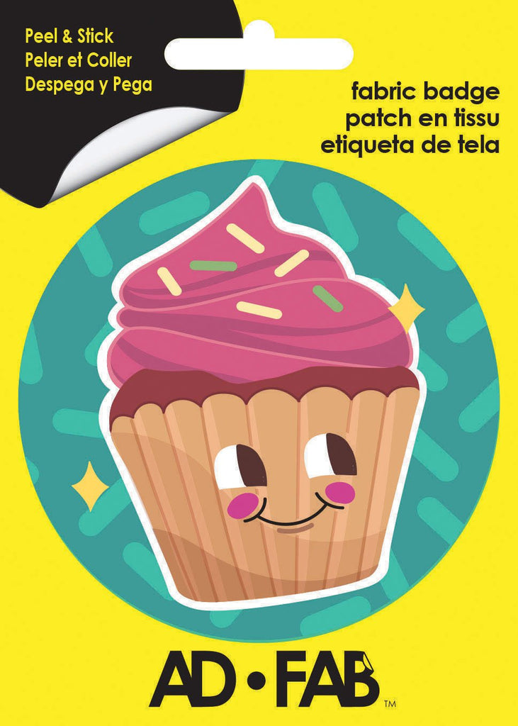 Cutie Cupcake Adhesive Fabric Badge