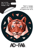 Tiger Adhesive Fabric Badge