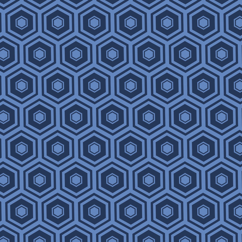 Mixology Coordinates - Honeycomb Navy