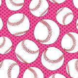 Baseballs - Printed Fleece by CDS<br>2160023A-02