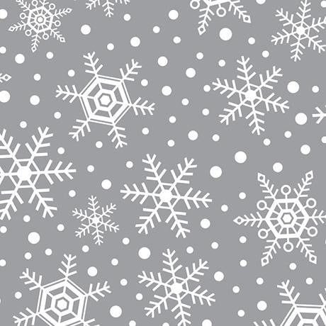 Snowflakes - Printed Fleece by CDS