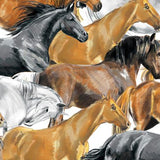 Running Horses - Printed Fleece by CDS<br>2160032A-01