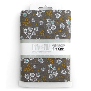 EMMA & MILA - Wildflowers - DAISY 1 Yard Cuts<br>2240203YC1WM-02-Grey