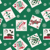 A Christmas Story Stamp - Printed Flannel - Green