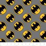 Batman Logo - Directional - Printed Flannel by DC Comics- Grey