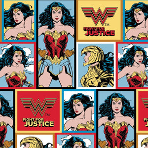 Wonder Woman WW84 Blocks - <br>Printed Fleece by DC Comics<br>23400821A-01 Multi