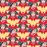 Wonder Woman - WW84 Face Crop -  Printed Cotton by DC Comics