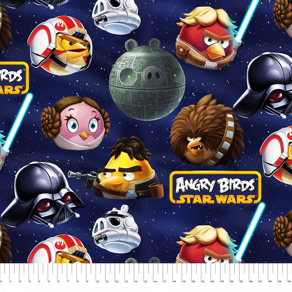 Angry Birds Star Wars Death Star - Printed Fleece by Lucasfilm Star Wars