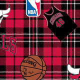 Chicago Bulls Plaid - Printed Fleece by NBA
