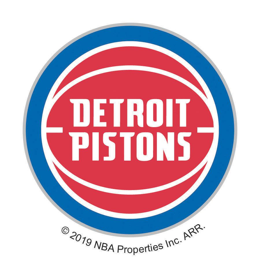 NBA  Detroit Pistons Logo On Solid Adhesive Fabric Badge