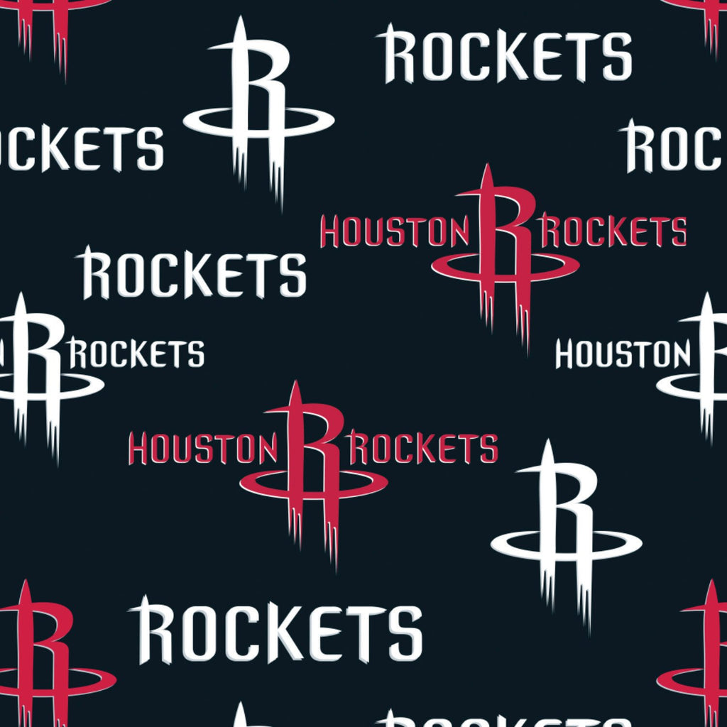 Houston Rockets Block - Printed Fleece by NBA