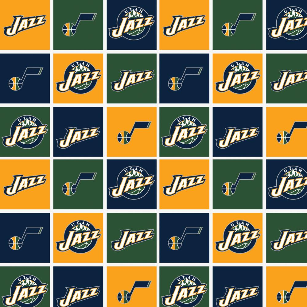 Utah Jazz Block - Printed Fleece by NBA