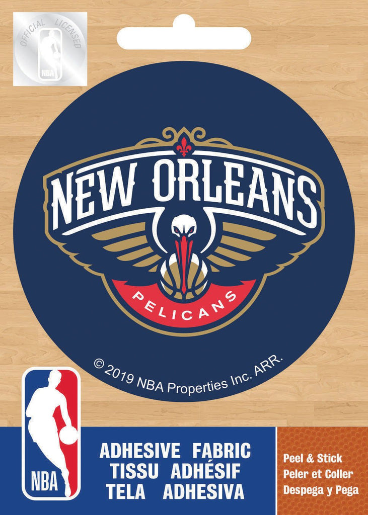 NBA New Orleans Pelicans Logo On Solid Adhesive Fabric Badge