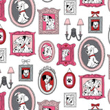 101 Dalmatians Family Frames - Printed Flannel by Disney<br>85010203B-02 White
