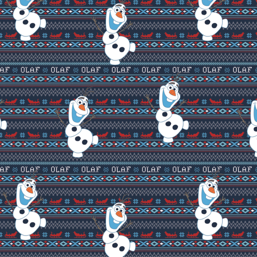 Olaf's Alpine Adventure  - Printed Flannel by Disney