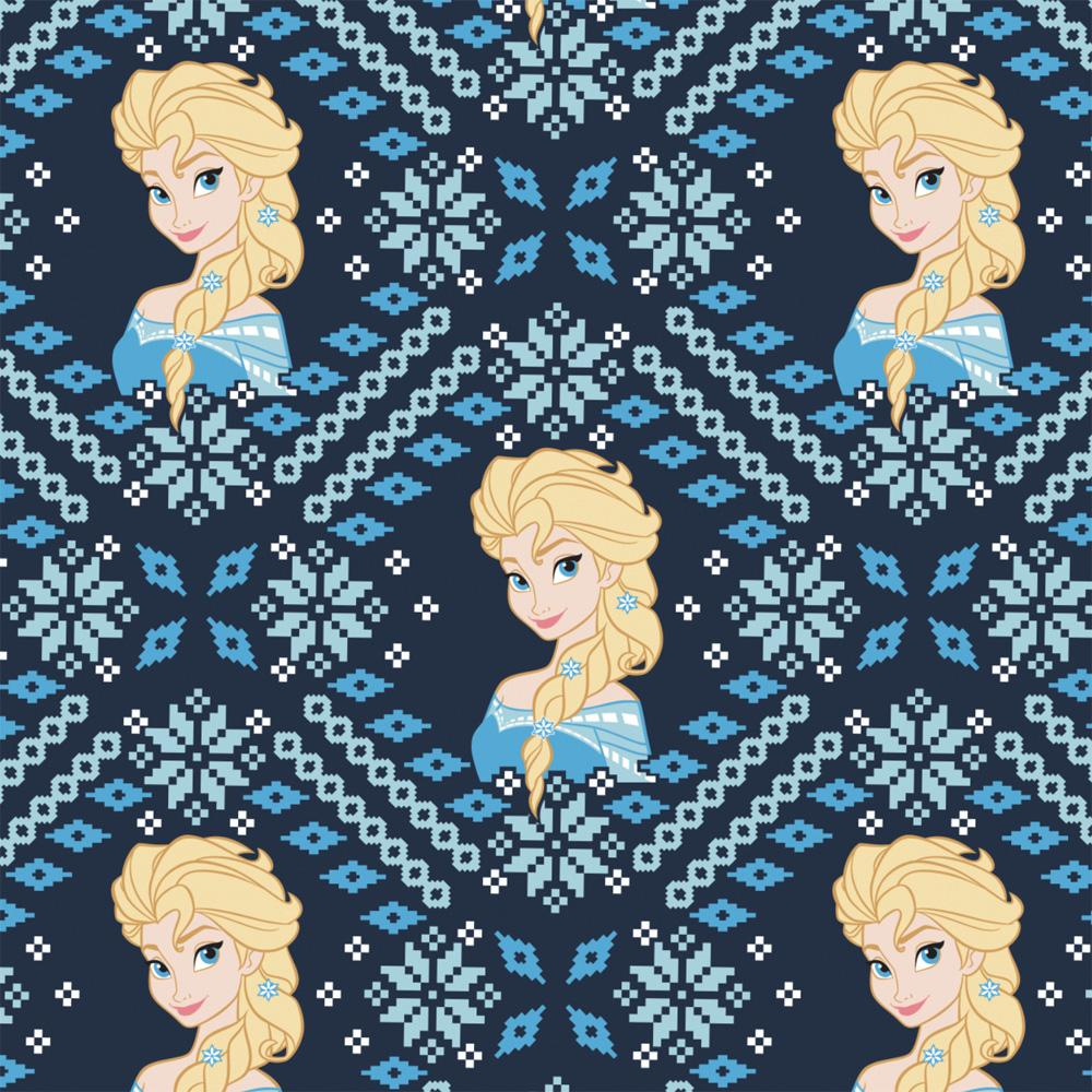 Elsa Fair Isle - Printed Fleece by Disney