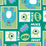 Mike & Sully Block Fleece - Printed Fleece by Disney·Pixar