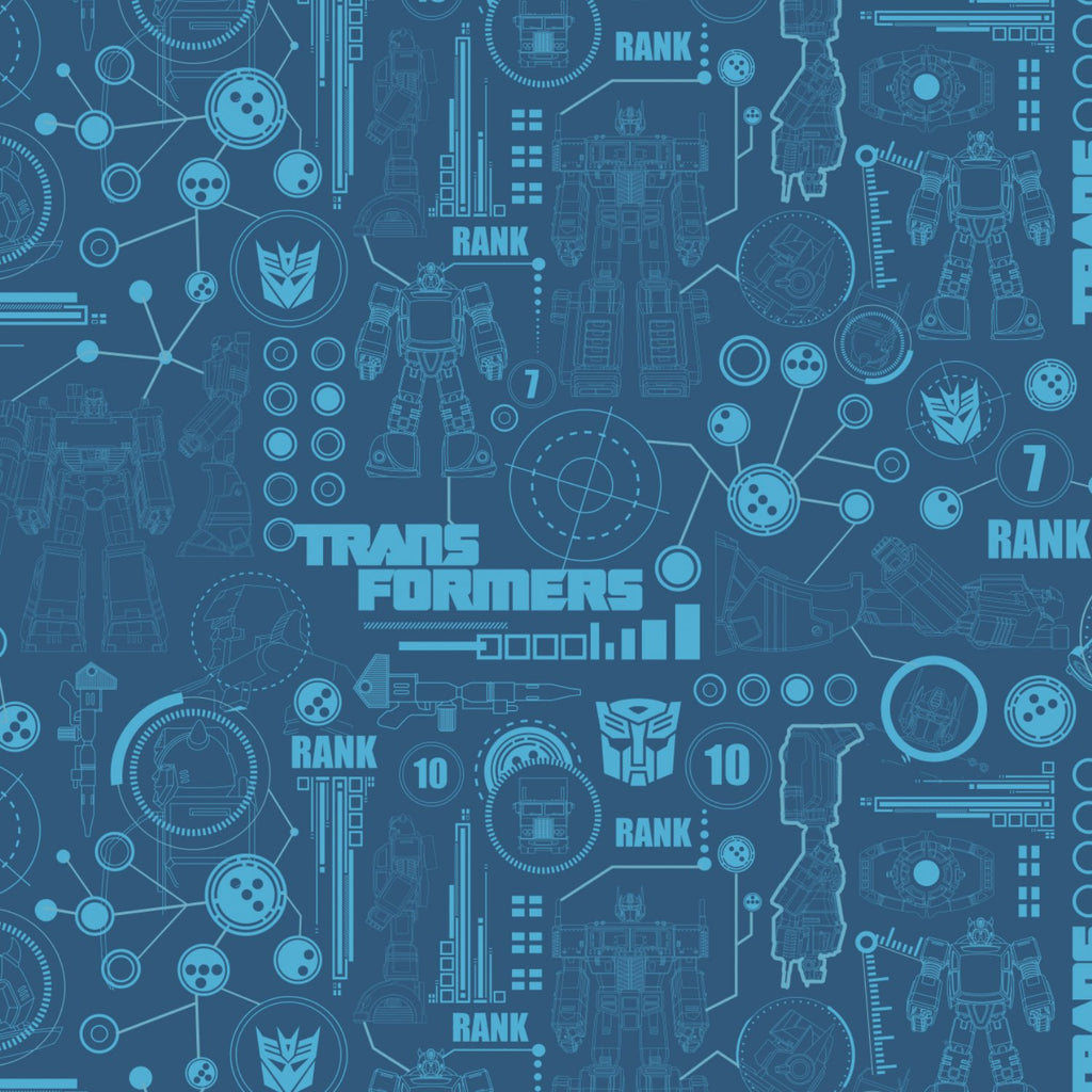 Transformers Collection - Transformers Blueprint - Blue