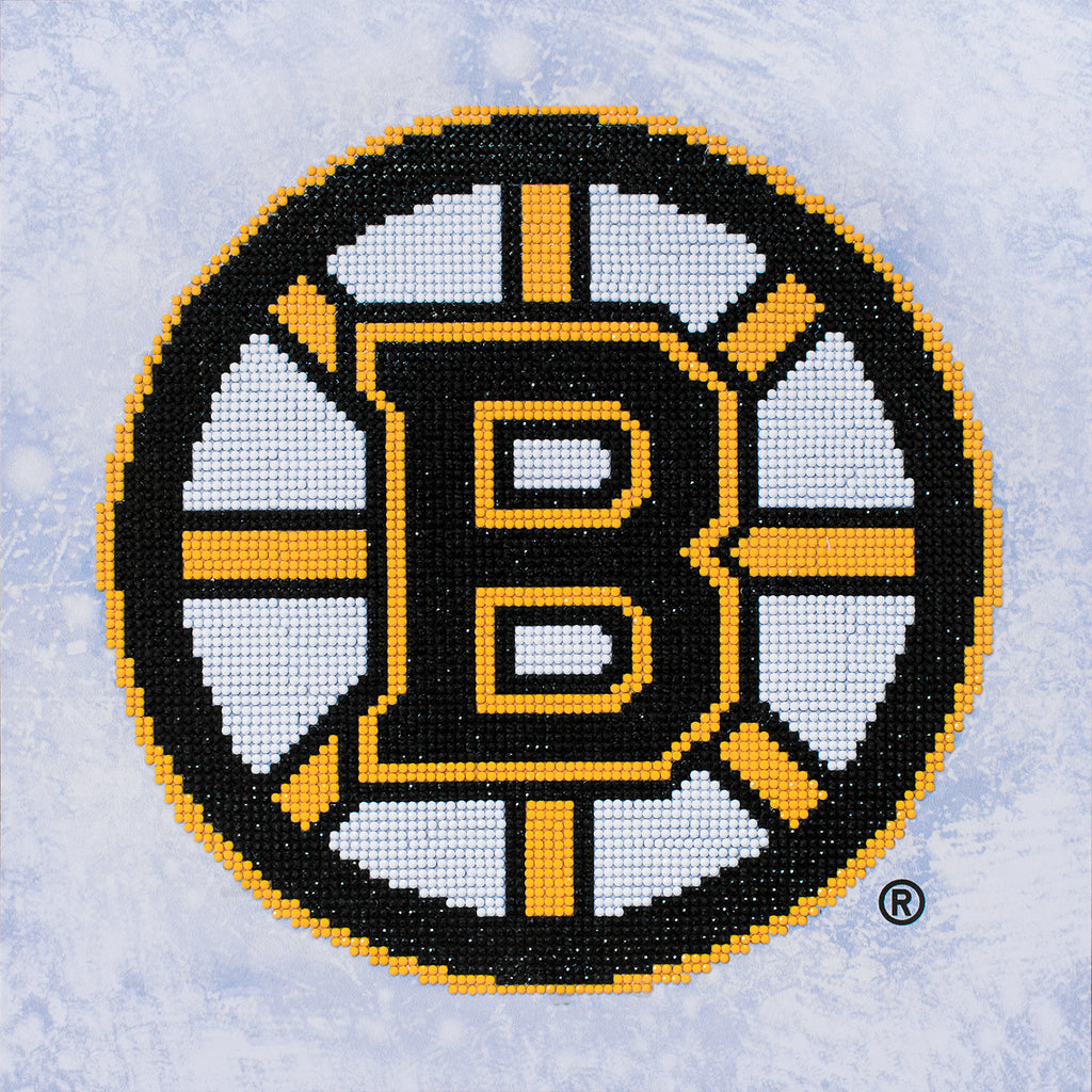 Officially Licensed Camelot Dotz NHL Boston Bruins Diamond Painting Kit