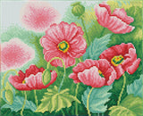 Diamond Dotz Squares Watercolour Poppies