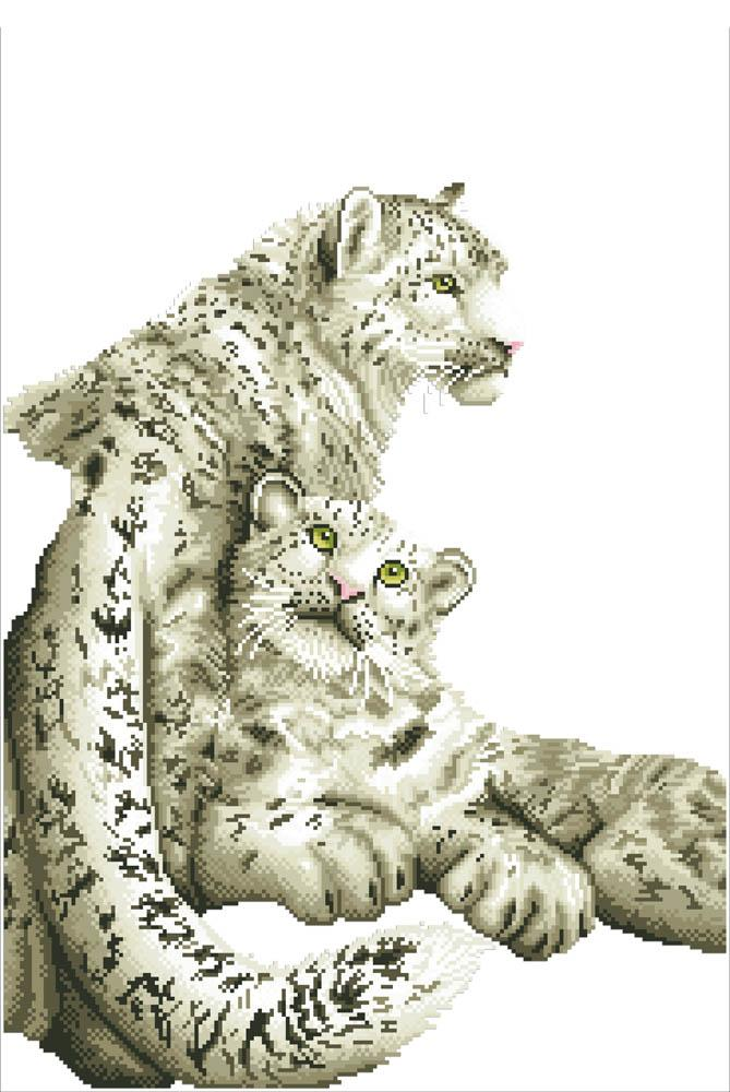 Diamond Dotz Snow Leopards