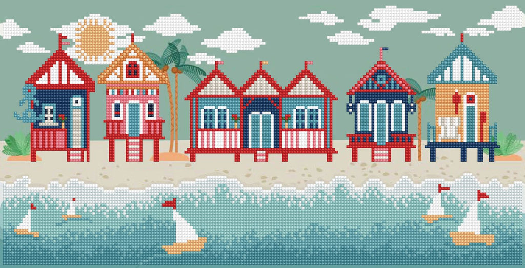 Diamond Dotz Seaside Days Diamond painting kit
