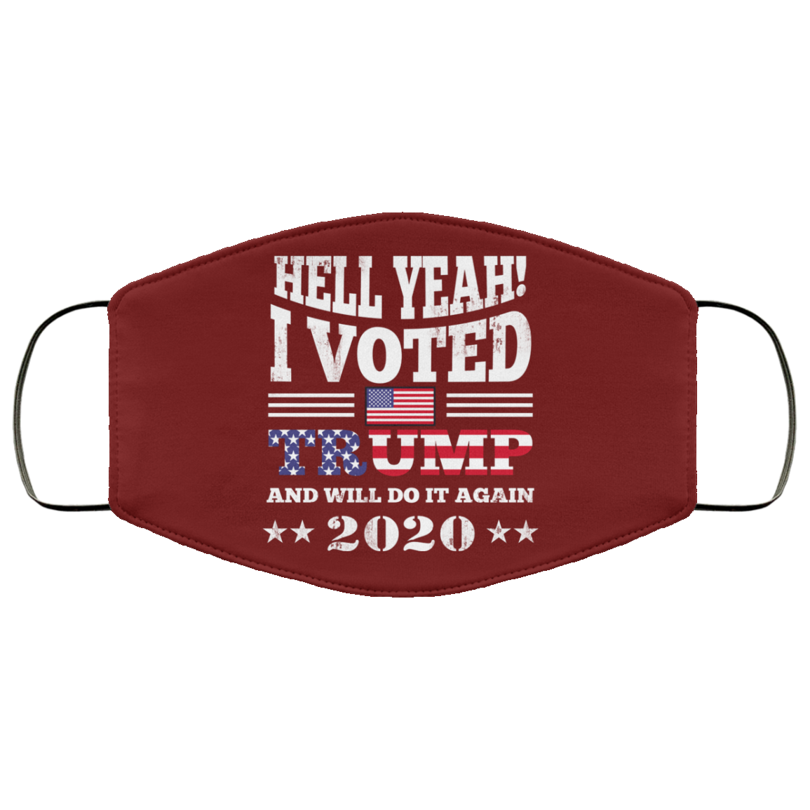 Hell Yeah I Vote Trump And Will Do It Again 2020 Long Sleev