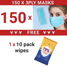 Load image into Gallery viewer, 20pcs/30pcs/50pcs/100pcs Disposable Breathable 3-layered Masks