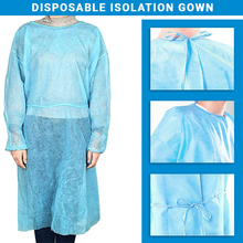 Load image into Gallery viewer, Disposable Isolation Gown Fluid Resistant & Sterile Level 1
